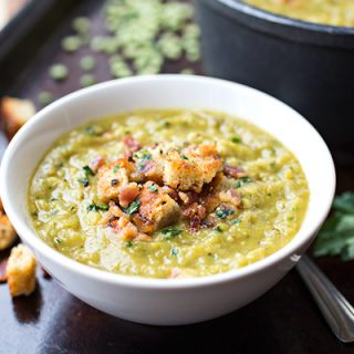 Hearty Split Pea & Smoky Bacon Soup, for When Something of Substance is Craved