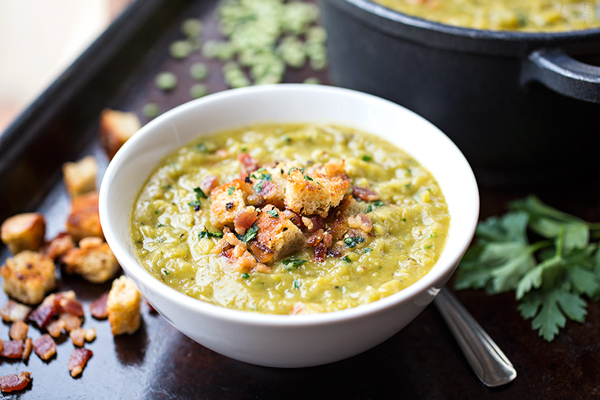 Hearty Split Pea & Smoky Bacon Soup, for When Something of Substance is Craved post image