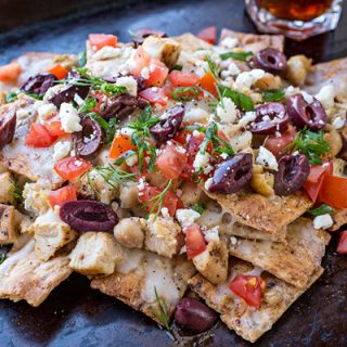Grilled Lemon Chicken Greek Nachos, and the Zesty Flavors of All of Life's Layers