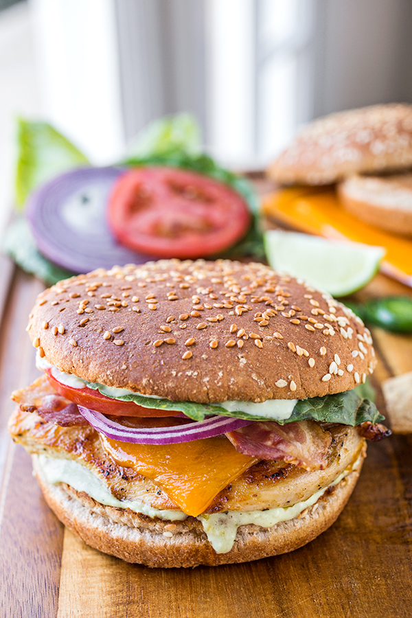 Tequila-Lime Chicken Burgers   thecozyapron.com