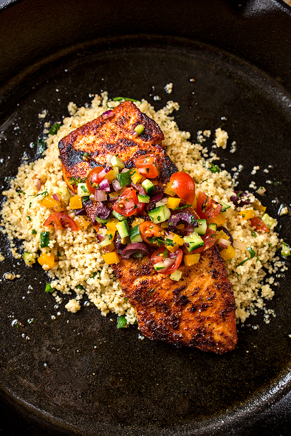 Pan Seared Salmon | thecozyapron.com