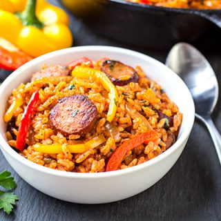 Smoked Sausage and Red Rice Skillet, and Giving One Another the Freedom to Just Be