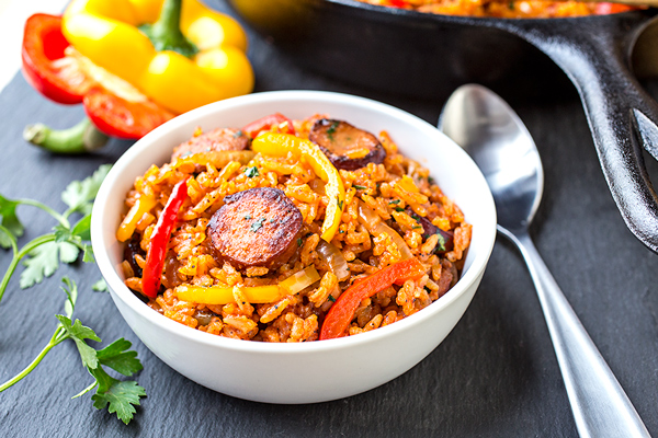 Smoked Sausage and Red Rice Skillet, and Giving One Another the Freedom to Just Be post image