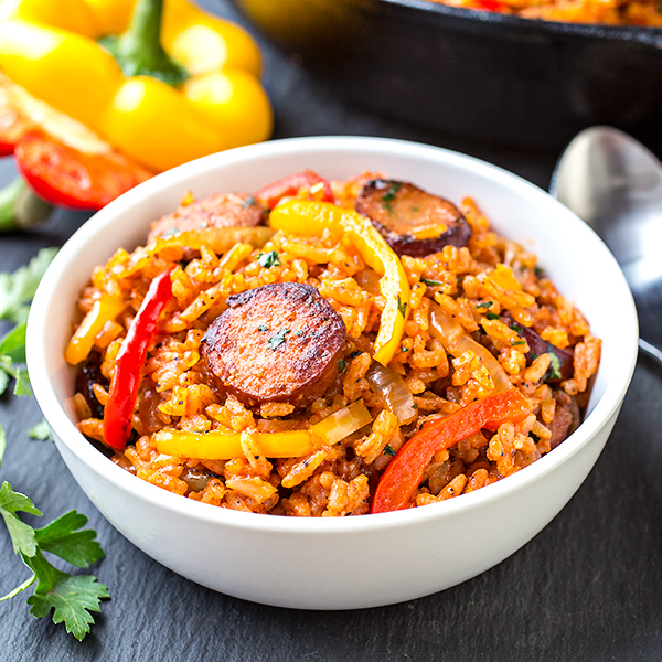 Smoked Sausage and Red Rice Skillet, and Giving One Another the ...