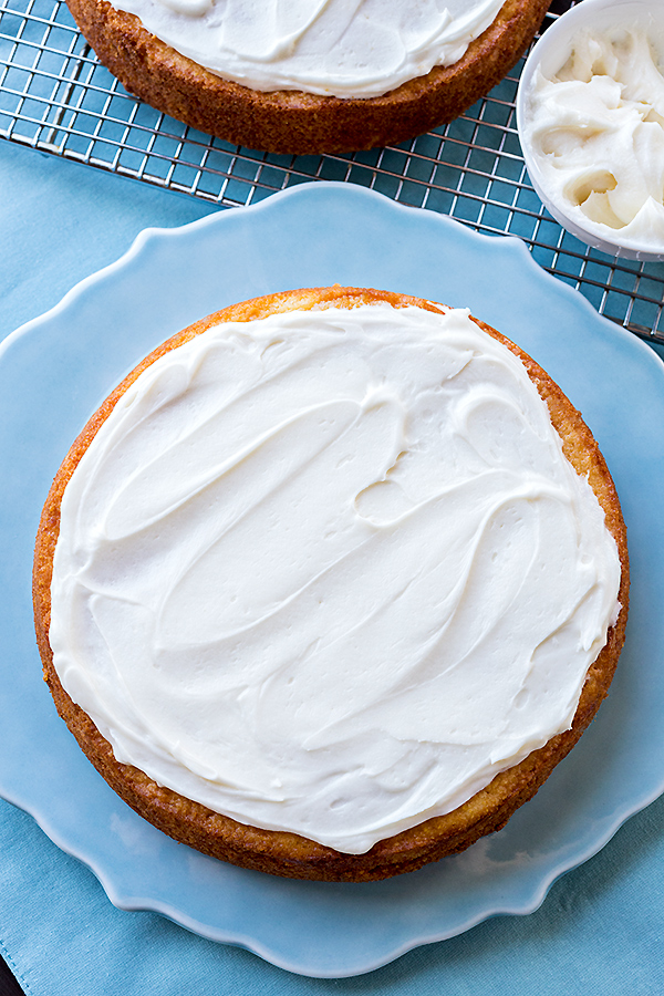 Cornbread Cake with Honey Butter Frosting | thecozyapron.com