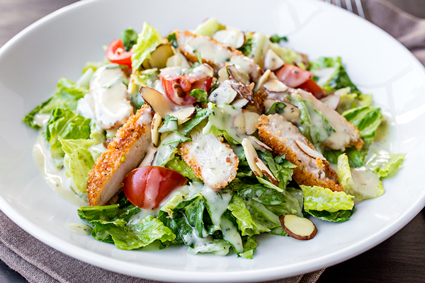Honey Mustard Chicken Chopped Salad, Anything but Dainty