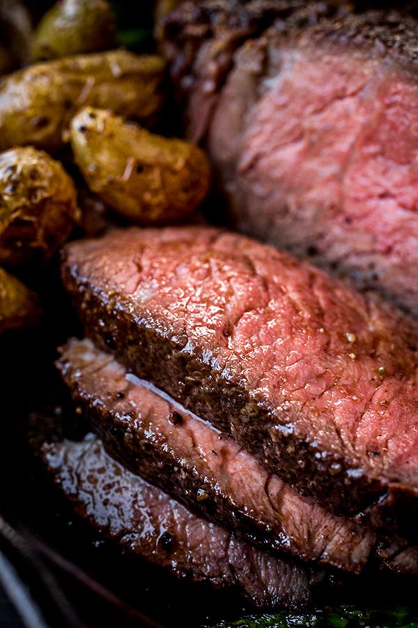 Pepper-Crusted Cowboy Rib Eye Steak with Shiitake Mushroom ...