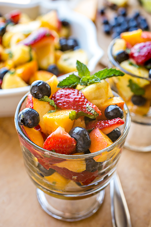 Rainbow Fruit Salad | thecozyapron.com