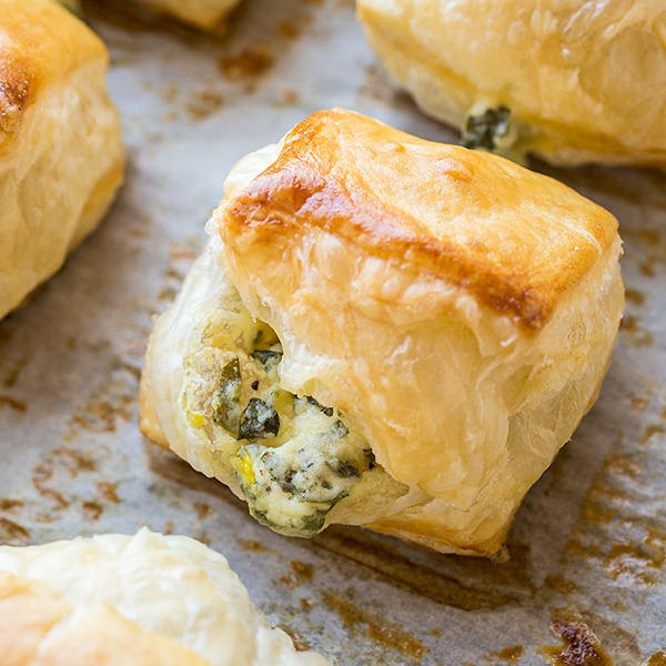 Puff Pastry Spinach Cheese Bites, Something to Nibble on When ...