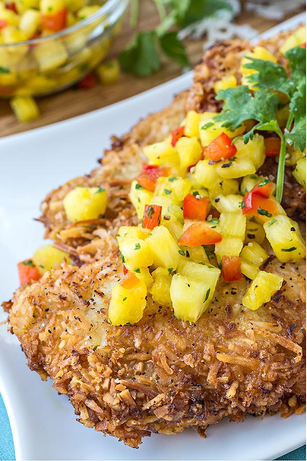 Hawaiian Coconut Chicken | thecozyapron.com