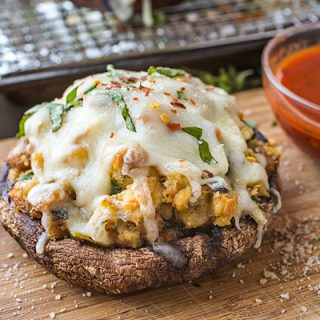 Pizza Stuffed Portobello Mushrooms, and the Fun in Doing Things a Bit Different