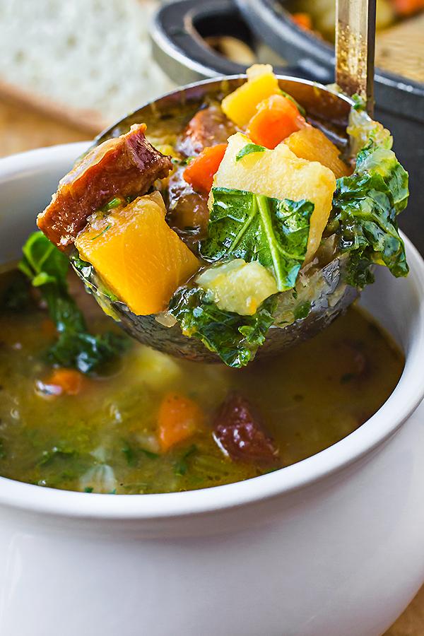 Harvest Stew with Smoked Sausage | thecozyapron.com