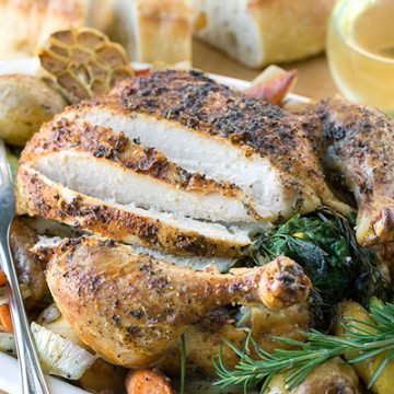 Roast Chicken with Vegetables | thecozyapron.com