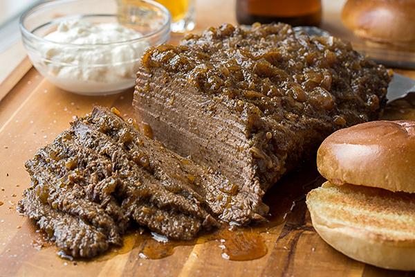 Beef Brisket with Creamy Horseradish Sauce