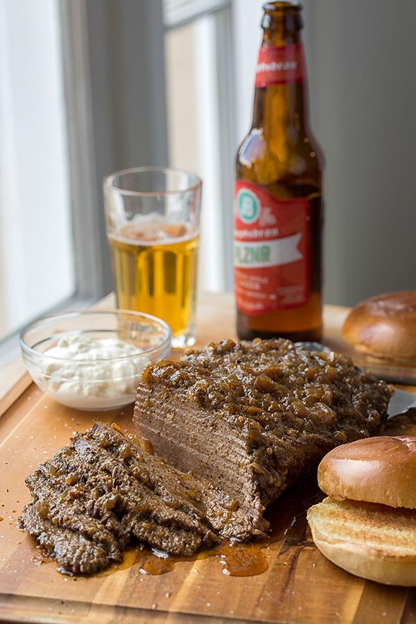 Beef Brisket with Creamy Horseradish Sauce | thecozyapron.com