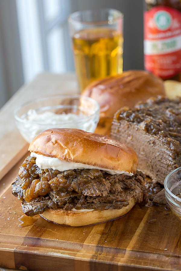 Beer-Braised Beef Brisket Sandwich, and the Treasure Within