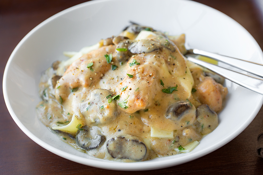 Chicken Stroganoff, a Comforting Companion for a Wintery Evening