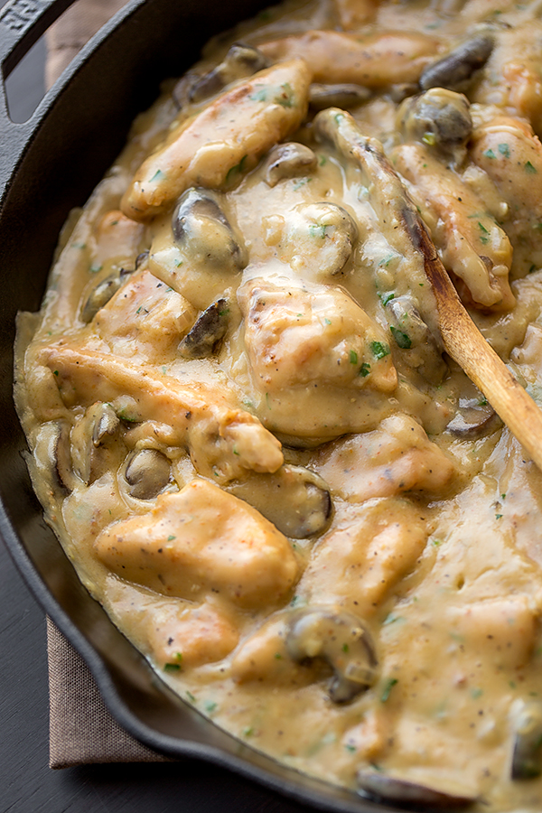Chicken Stroganoff with Savory Mushrooms | The Cozy Apron