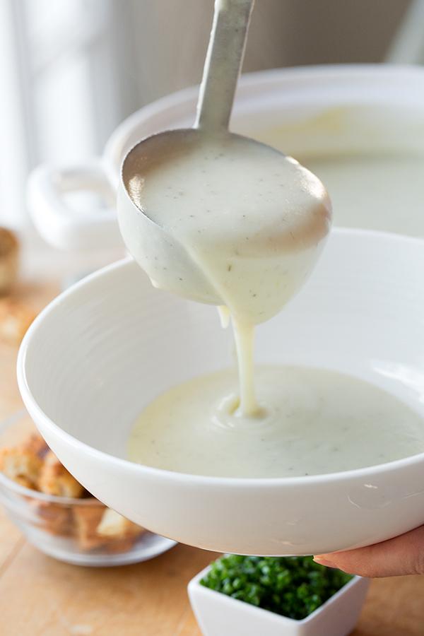 Roasted Garlic Potato Soup   thecozyapron.com