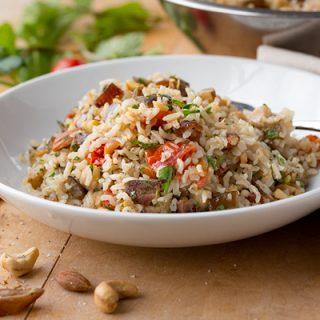 Mediterranean Power Rice | thecozyapron.com