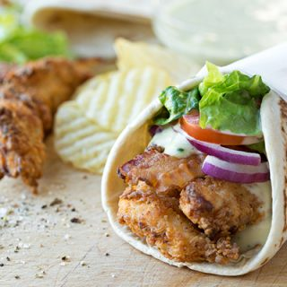 Crispy Chicken Strips Flatbread Wrap, and the Sauce That Makes It Special