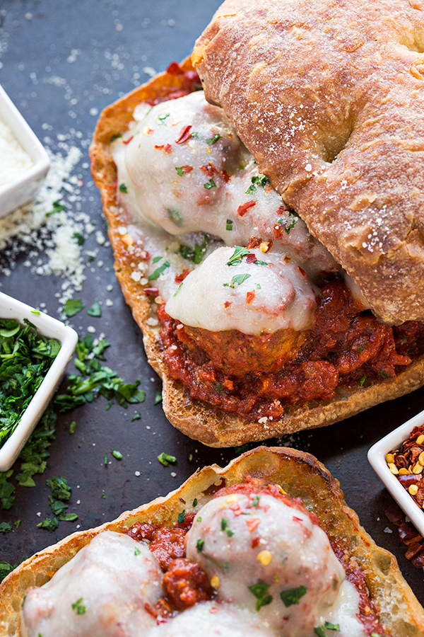 Italian Meatball Sandwich | thecozyapron.com