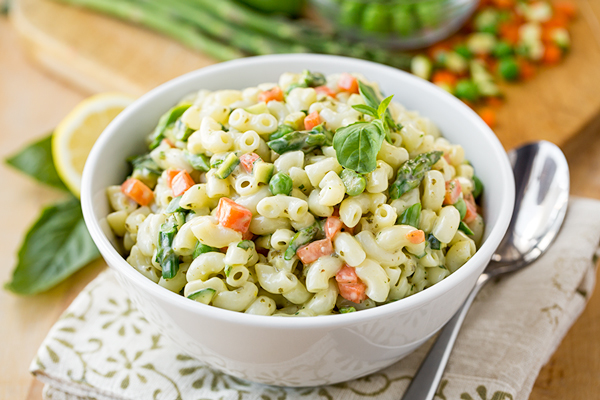 Macaroni Salad with Spring Vegetables, and the Hope That Springs Eternal