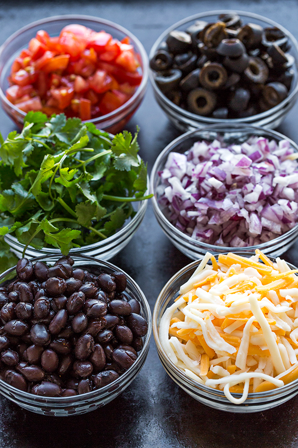 Mexican Pizza Ingredients | thecozyapron.com