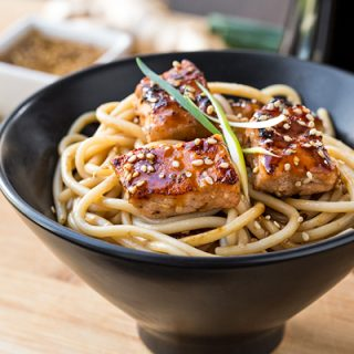 Teriyaki Salmon Noodle Bowls, and Extending Another the Freedom to Fly