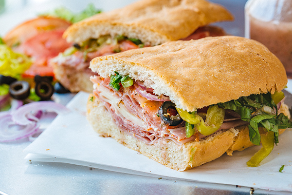 Italian Sub with Red Wine Vinaigrette