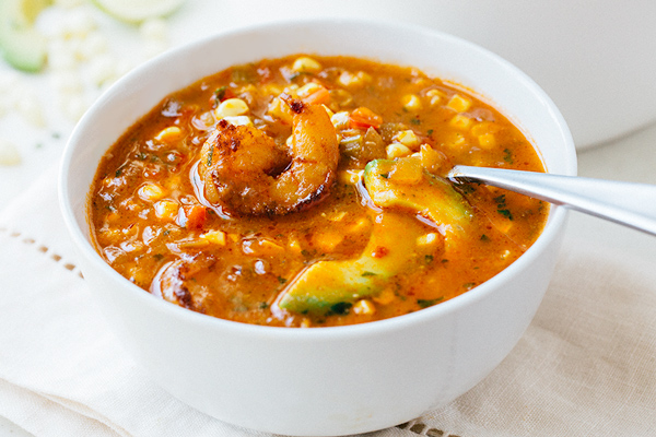 Summer Corn Soup with Shrimp, and Never Dimming Your Light for Anyone