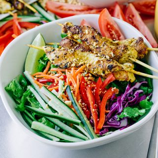 Thai Chicken Satay Salad, and Longing for the Coolness to Come In