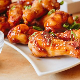 Spicy Orange Chicken Wings | thecozyapron.com