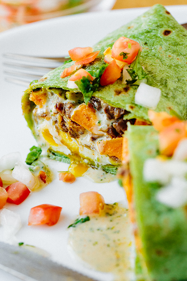 Steak and Eggs Breakfast Burrito | thecozyapron.com
