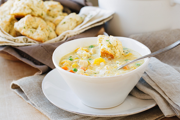 Creamy Chicken Chowder with Drop Biscuits, and Wishing We Never Had to Say Goodbye