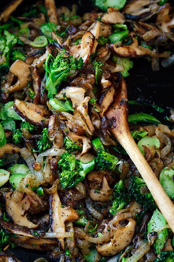 Sauteed Veggies for Breakfast Frittata | thecozyapron.com