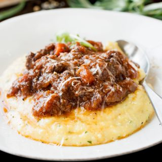 Polenta with Braised Oxtail Ragu, and Remembering That the Sun Is Just beyond the Clouds