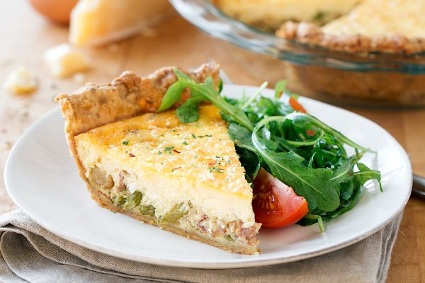 Savory Quiche with Herb Crust | thecozyapron.com