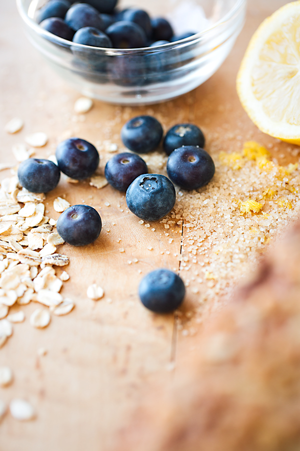 Ingredients for Blueberry Bread with Oat Streusel Topping | thecozyapron.com