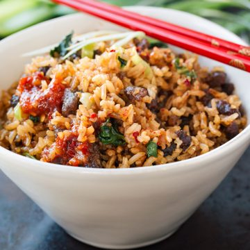 Beef Fried Rice | thecozyapron.com