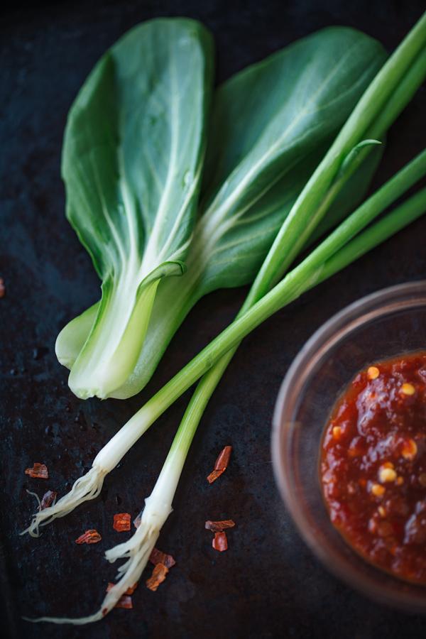 Spicy Garlic Beef Bibimbap Ingredients | thecozyapron.com