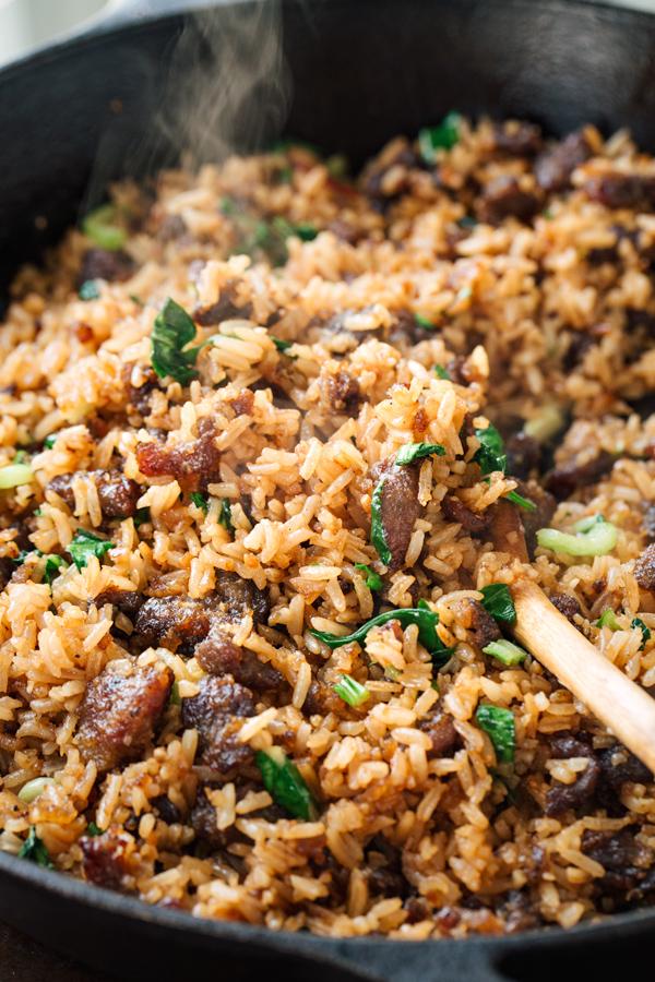 Spicy Garlic Beef Bibimbap | thecozyapron.com