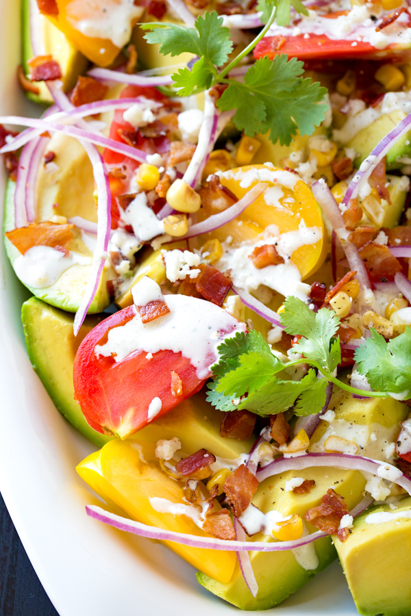 Avocado Salad with Zesty Lime Dressing | thecozyapron.com