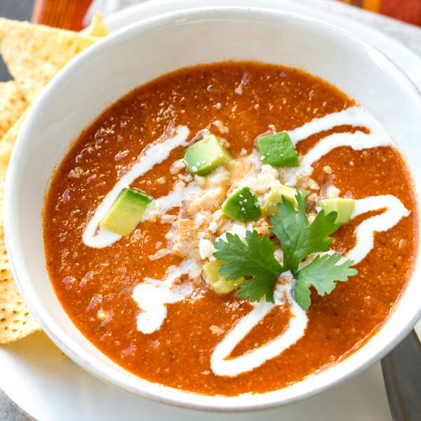 Chicken Tortilla Soup | thecozyapron.com