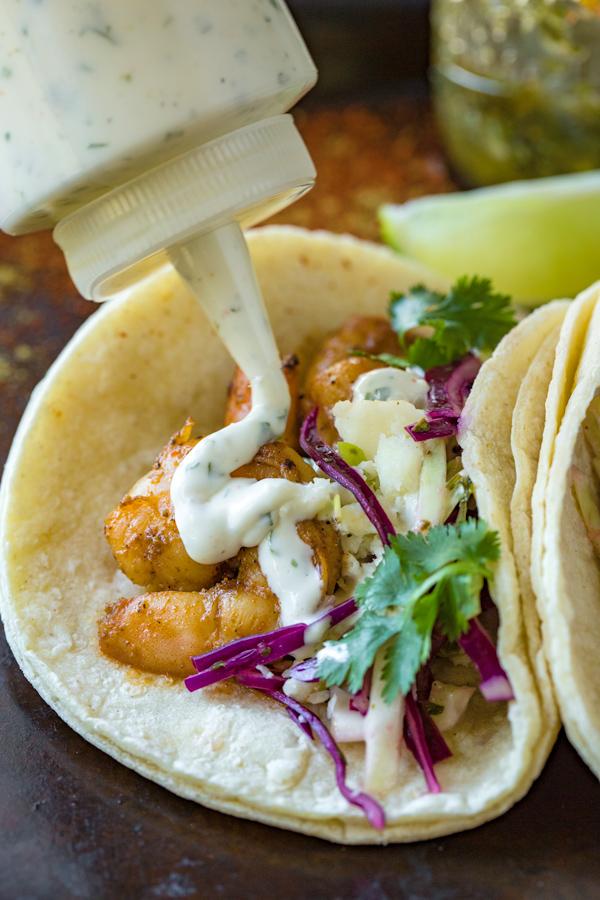 Tequila Lime Shrimp Tacos  | thecozyapron.com