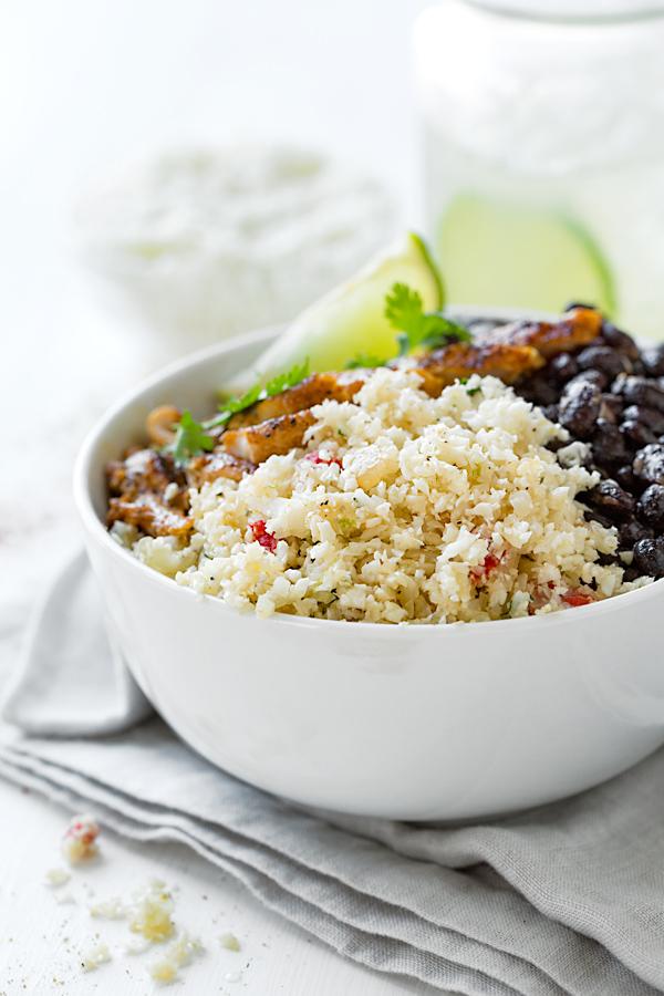 Cauliflower Rice Bowl Southwest Style | thecozyapron.com