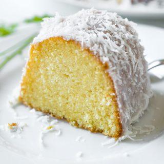 Lemon Bundt Cake with Creamy Coconut Glaze