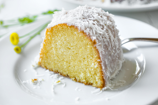 Lemon Bundt Cake with Creamy Coconut Glaze
