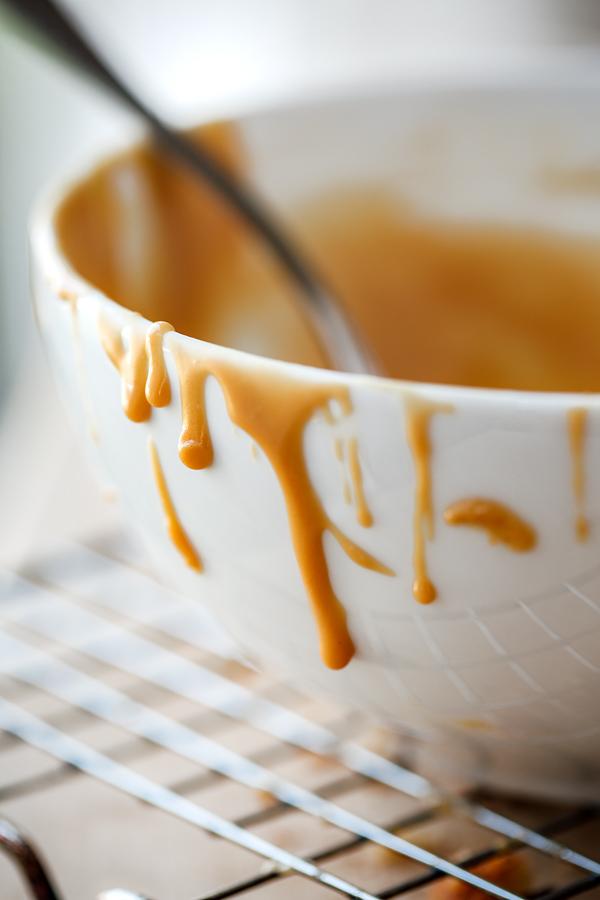 Bowl of Caramel Glaze | thecozyapron.com