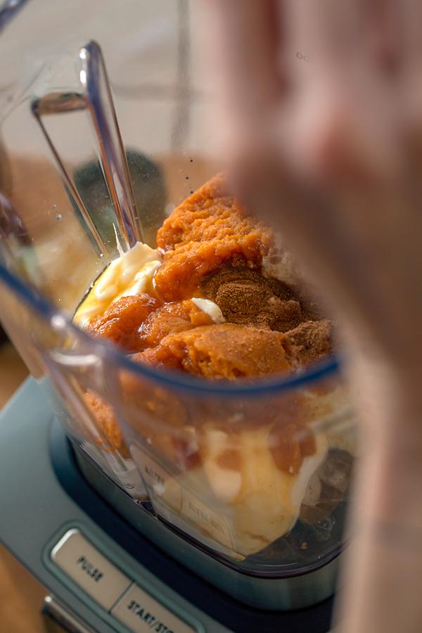 Pumpkin Pie Smoothie Ingredients and Wolf Gourmet Blender